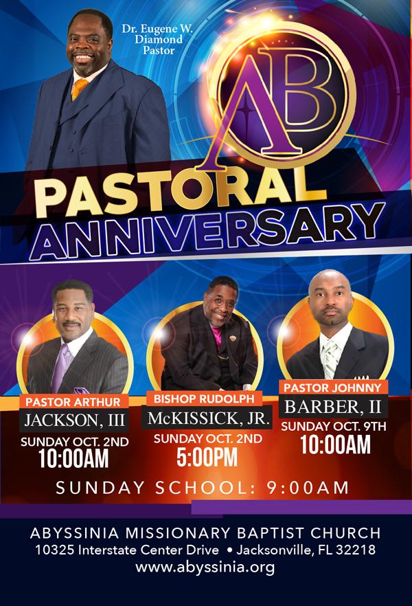 Pastor Anniversary Abyssinia Baptist Church
